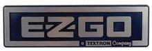 EZGO TXT Silver Name Plate