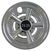"8"" RHOX Chrome SS Muscle Car Golf Cart Wheel Cover"