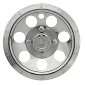 "10"" RHOX Beadlock Chrome Golf Cart Wheel Cover"