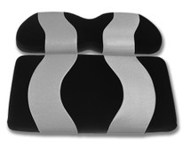Madjax Wave Black and Silver Front Seat Cover - Cart Model Specific