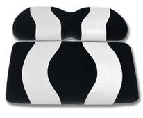 Madjax Wave Black and White Front Seat Cover - Cart Model Specific