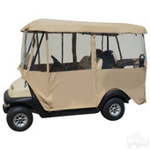 "Universal Deluxe 4-Sided Golf Cart Enclosure (80"" Top)"
