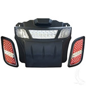 EZGO RXV LED Headlight and Tail Light Light Bar Bumper Kit