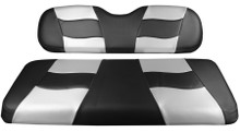 Madjax Riptide Two-Tone Black Carbon/Silver Carbon Front Seat Cover - Cart Model Specific