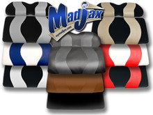 Madjax Wave Two Tone Rear Flip Seat Covers - Choose Colors