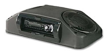 Roof Mount Console with Inverted Stereo Black