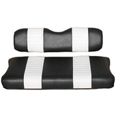 Black and White Premium Vinyl Front Seat Covers