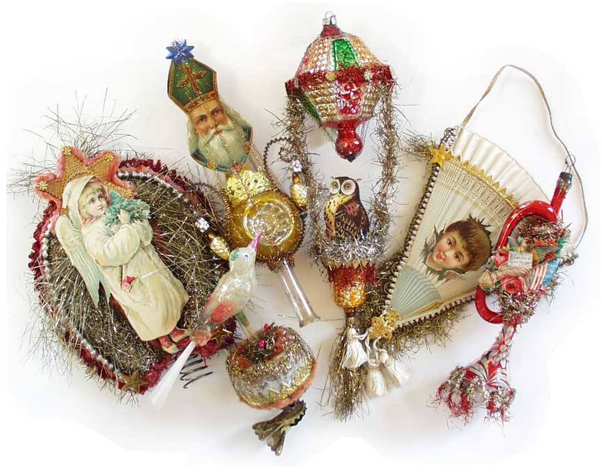 Old Christmas Decorations.Dresden Star Ornaments Victorian Ornaments One Of A Kind