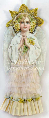 Reserved for Susan - Delicate Easter Angel with Silk and Organza Skirt