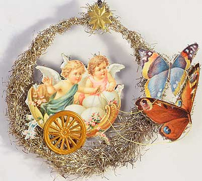 Angels in Shell Chariot Pulled By Butterflies