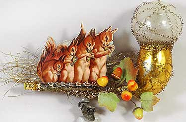Whimsical Squirrels on Glass Bubble Pipe