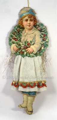Reserved for Dennis - Large Snow Boy with Cotton Batting Skirt