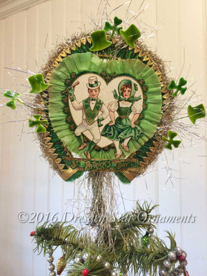 Reserved for Brenda – St. Patrick's Day Tree Topper with Dancing Irish Couple