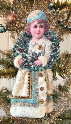 Reserved for Ruth – Snow Boy with Decorated Cotton Batting Skirt