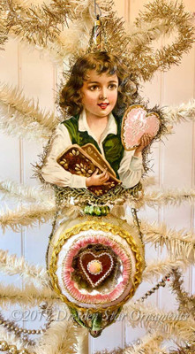 Reserved for Dennis –Hansel Gingerbread Boy on Fanciful Indent Ornament