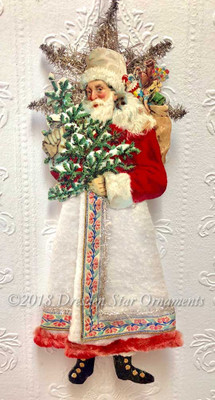 Large Santa with Cotton Skirt and Beautiful Ribbon