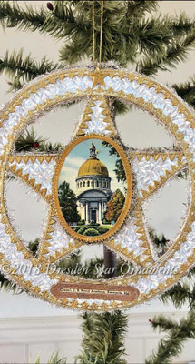 Reserved for Joseph– Two-Sided Patriotic Circle-Star with Naval Academy Emblem and Chapel