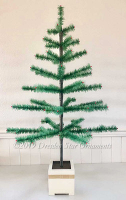 "Popular 44"" Reproduction Antique Feather Tree Designed by Dresden Star"