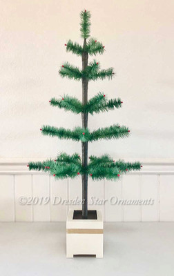 "34"" Tapered Feather Tree Designed by Dresden Star"