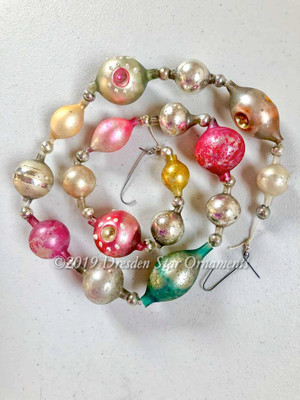 Victorian Glass Bead Garland Made with Antique Beads – 2 Ft length BV19001