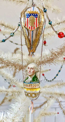 Reserved for Stacy – George Washington on Dainty Commemorative Cotton Balloon