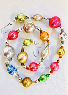 Reserved for Yuliya - Victorian Glass Bead Garland Made with Antique Beads – 2 Ft length YP011420C