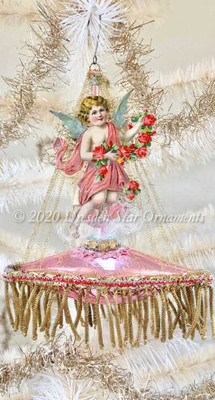 Angel with Garland of Roses on Gilded Pink Ship