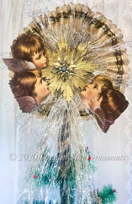Reserved for Dennis – Spectacular Cherub Star Tree Topper
