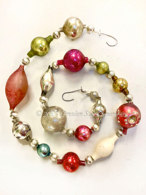 Reserved for Nicole - Victorian Glass Bead Garland Made with Antique Beads – 2 Ft length NR021920A