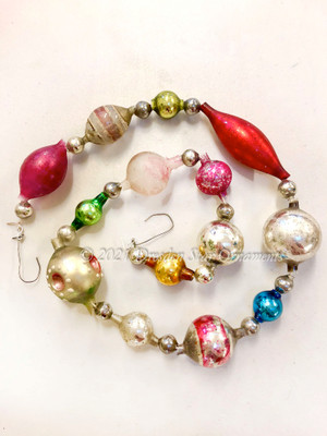 Reserved for Nicole - Victorian Glass Bead Garland Made with Antique Beads – 2 Ft length NR021920B