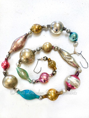Victorian Glass Bead Garland Made with Antique Beads – 2 Ft length BV21002