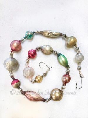 Victorian Glass Bead Garland Made with Antique Beads – 2 Ft length BV21004