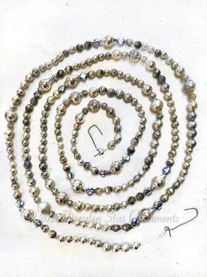 Fancy Vintage & Antique Glass Silver Bead Variation 1 – 6 Foot Length