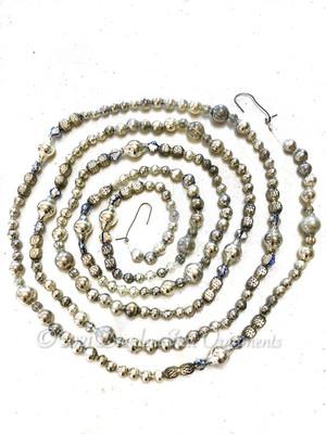 Fancy Vintage & Antique Glass Silver Bead Variation 2 – 6 Foot Length