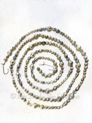 Fancy Vintage & Antique Glass Silver Bead Variation 3 – 6 Foot Length