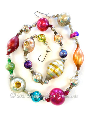 Reserved for Vivian - Victorian Glass Bead Garland Made with Antique Beads – 2 Ft length VZ060621A