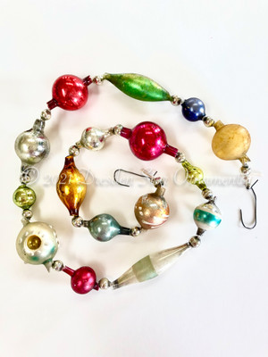 Reserved for Vivian - Victorian Glass Bead Garland Made with Antique Beads – 2 Ft length VZ062521C