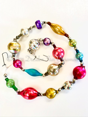 Reserved for Vivian - Victorian Glass Bead Garland Made with Antique Beads – 2 Ft length VZ062521D