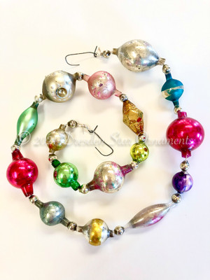 Reserved for Vivian - Victorian Glass Bead Garland Made with Antique Beads – 2 Ft length VZ062521E