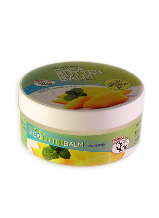 CJ's BUTTer Shea Butter Balm 2 oz. Jar: All Natural Mango, Sugar & Mint