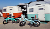 Elux Electric | Sierra Folding Bike | 2018 | Seafoam and Powder Blue