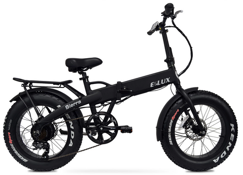 Elux Electric | Sierra Folding Bike | 2018 | Matte Black | No Rack