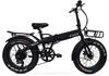 Elux Electric | Sierra Folding Bike | 2018 | Matte Black | with Racks
