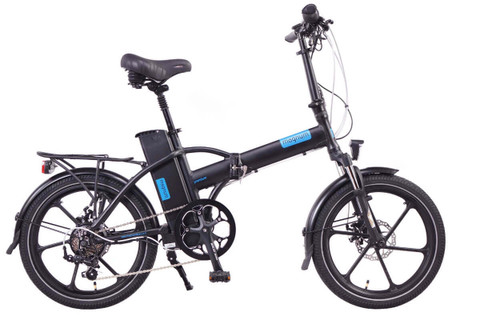Magnum Electric | Premium High Step | Electric Folding Bike | 2020 | Black with Blue Accents
