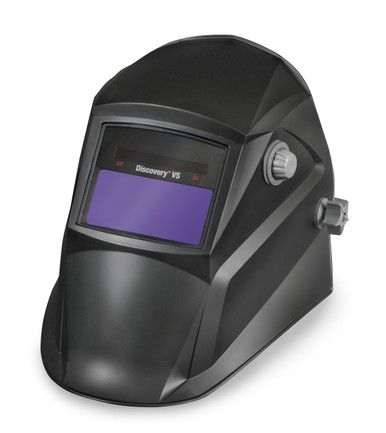 Left View HOBART Discovery Series Black Auto-Darkening Variable Shade Welding Helmet