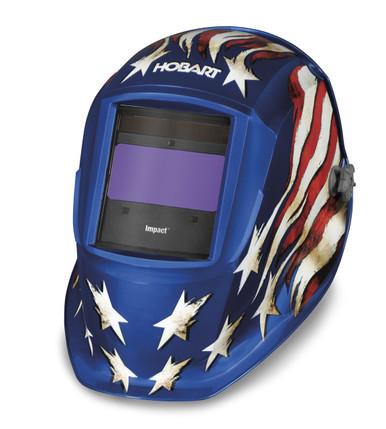Left View HOBART Impact Series Patriot III Auto-Darkening Variable Shade Welding Helmet