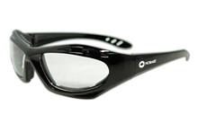 Hobart Clear Lens Safety Glasses w/ Black Frame