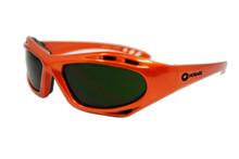 Hobart Shade 5 Lens Safety Glasses w/ Orange Frame