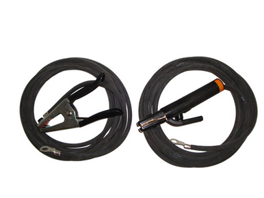 Stick Welding Cable Set - 4 Gauge 20'/15'