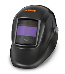Left View HOBART Impact Series Black Auto-Darkening Variable Shade Welding Helmet